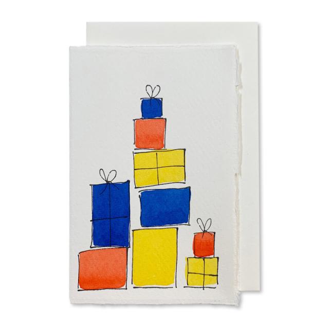 Scribble & Daub/シングルカード/Presents (blue)