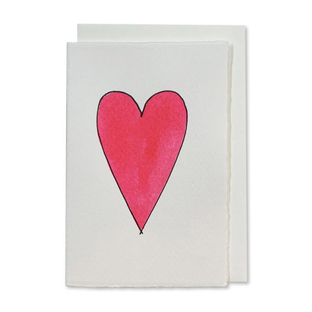 Scribble & Daub/シングルカード/Heart (pink)