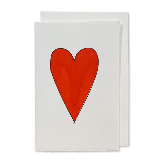 Scribble & Daub/シングルカード/Heart (red)