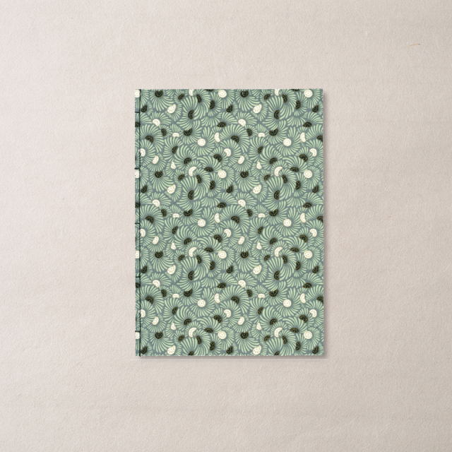 ginger/和綴じノート A5/FLOWER-Gray 1