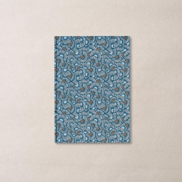 ginger/和綴じノート A5/FLOWER-Blue 2
