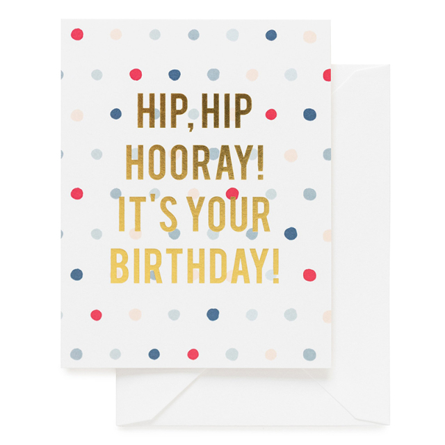 Sugar Paper/シングルカード/Hip Hip Hooray! It's Your Birthday!