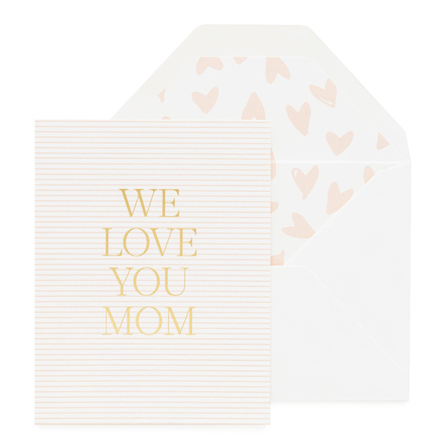 Sugar Paper/シングルカード/We Love You Mom, Pink