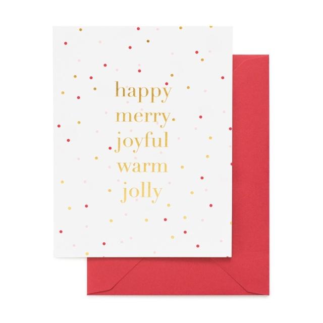 Sugar Paper/シングルカード/Happy Merry Joyful