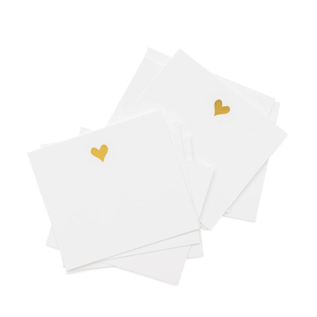 シュガーペーパー/ミニカード/Lunch Box Notes Gold Heart