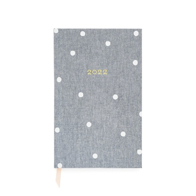 Sugar Paper/ダイアリー/Small Bound Planner, Chambray Scatter Dot, 2022