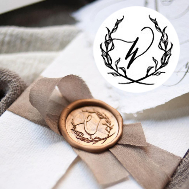 Stamptitude/シーリングスタンプ&ワックス/Initial Wax Seal -W