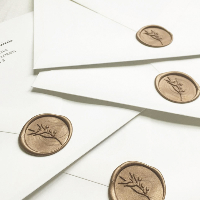 Stamptitude/ワックスシール/Olive Branch Wax Stickers - Antique Gold