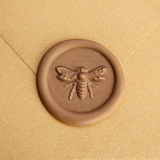Stamptitude/シーリングスタンプ&ワックス/Heirloom Wax Seal - 3D Bee/Bronze