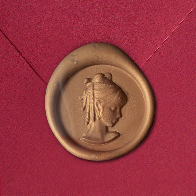 Stamptitude/シーリングスタンプ&ワックス/Heirloom Wax Seal - Cameo/Bronze
