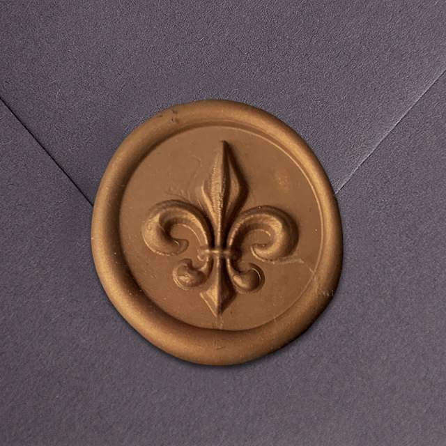 Stamptitude/シーリングスタンプ&ワックス/Heirloom Wax Seal - Fleur De Lis/Bronze