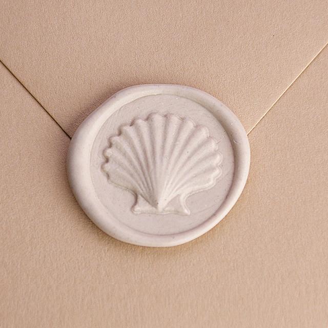 Stamptitude/シーリングスタンプ&ワックス/Heirloom Wax Seal - Seashell/Bronze