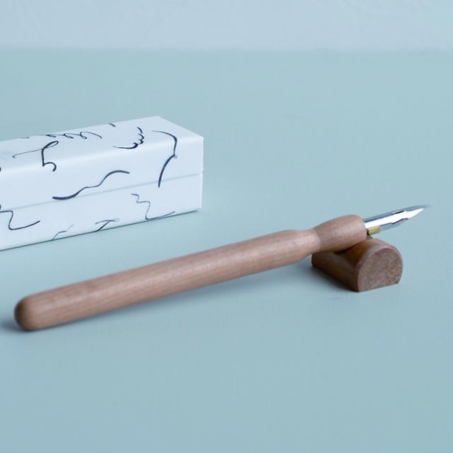 Tag Stationery/カリグラフィーホルダー/インクを楽しむつけペンセット 椿