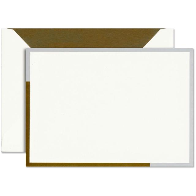 Vera Wang/ボックスカード10枚セット/Castillion Gold&Grey Card and Envelope