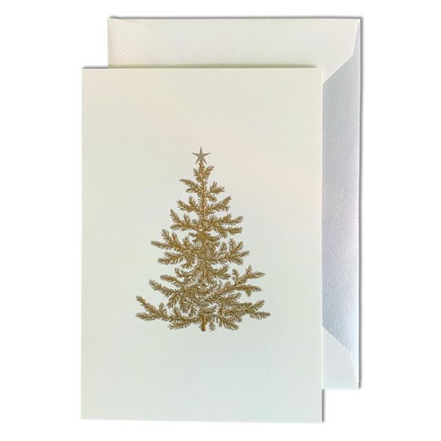 Vera Wang/ボックスカード/Engraved Holiday Tree Note