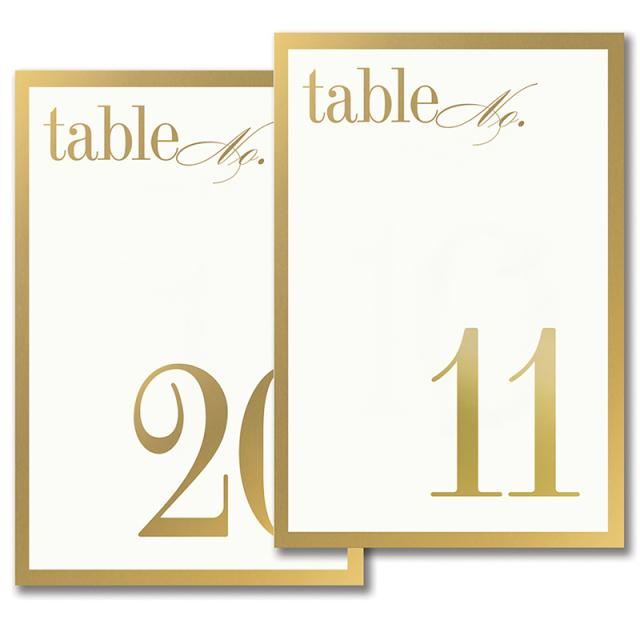 テーブルナンバー