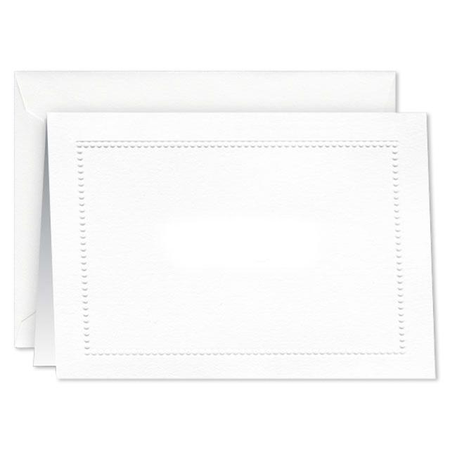 William Arthur/ボックスカード10枚セット/Blind Embossed Beaded Border Note