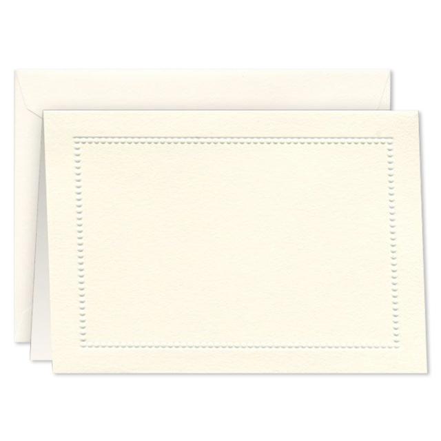 ウィリアム・アーサー/ボックスカード10枚セット/Blind Embossed Ecru Beaded Border Note