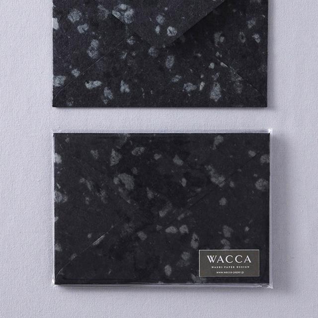 WACCA/封筒/Bush hammer 封筒 ブラック 5枚入り