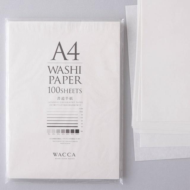 WACCA/半紙/A4書道半紙100枚入