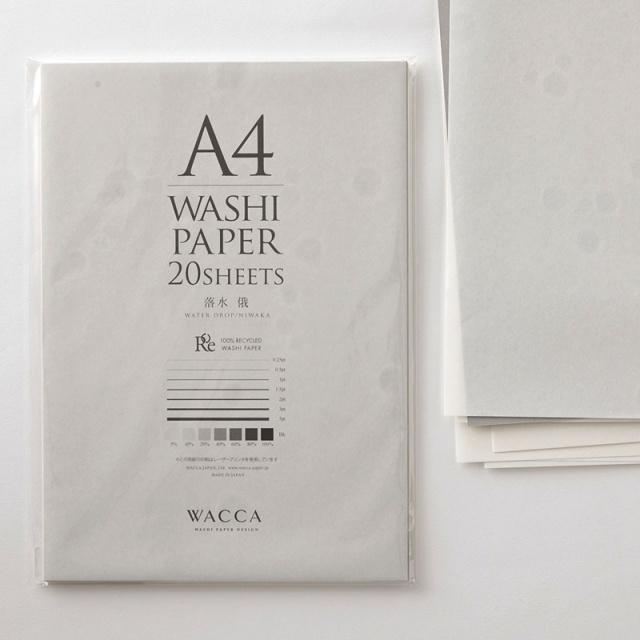 WACCA/和紙/A4和紙 落水 俄 20枚入り