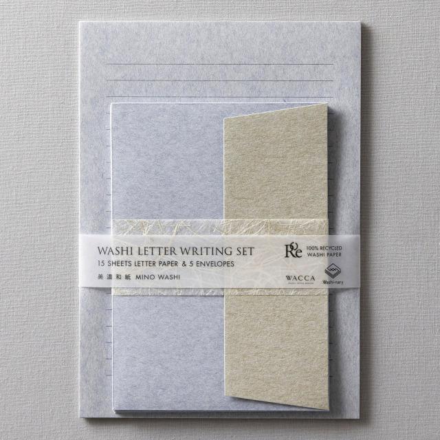 WACCA/レターセット/Washi-nary×WACCA Washi Letter Set - Ao 蒼