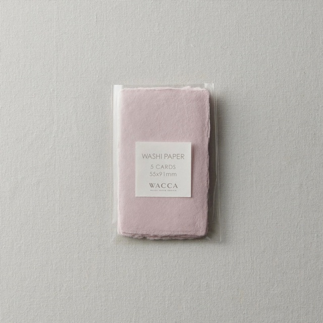 WACCA/ネームカード/耳付き名刺 ピンク 5枚入り