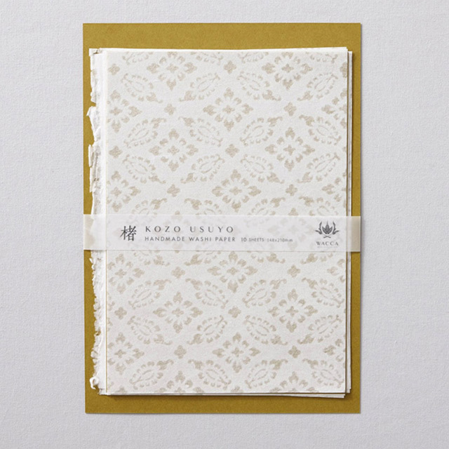 WACCA/和紙/手漉き楮薄様紙 小葵 A5 10枚入