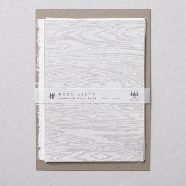 WACCA/和紙/手漉き楮薄様紙 板目 A5 10枚入