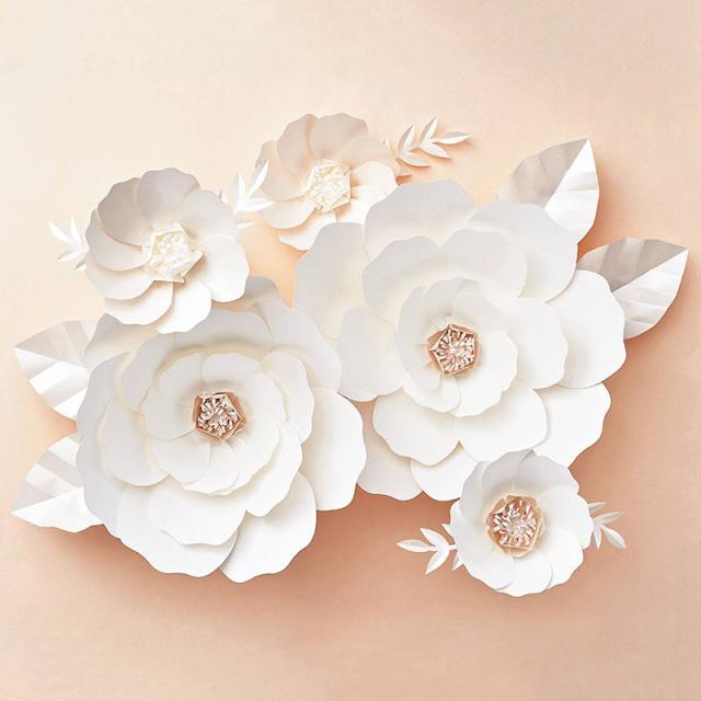 ペーパーソース/ジャイアントフラワー/Big Bloom White Paper Flowers