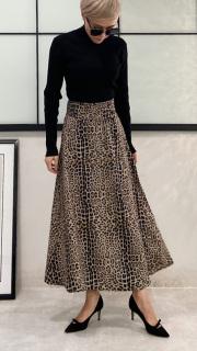 レオパードラップスカート