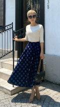 日本製フロッキーフレアスカート