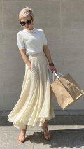 刺繍ドットマーメイドスカート