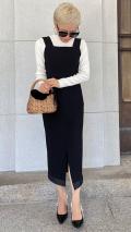 【先行予約】リトルブラック 裾リボンワンピース【発送予定:11月下旬】