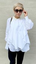 ハンドメイドパール刺繍ロングスリーブシャツ