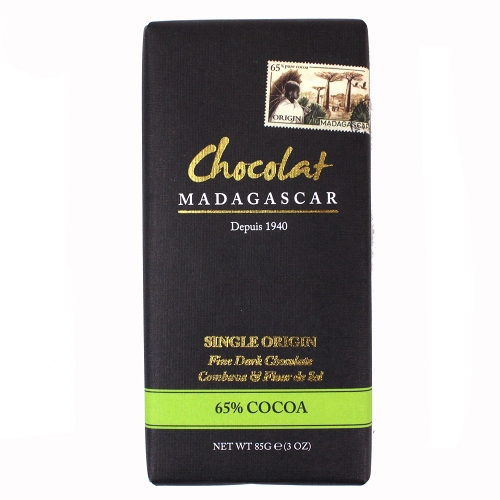 ショコラマダガスカル ダークチョコレート 65% こぶみかん&フルール・ド・セル