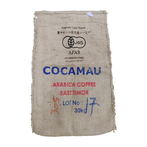 東ティモールコーヒー豆の麻袋