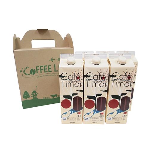 ギフト 東ティモールリキッドコーヒー6本セット