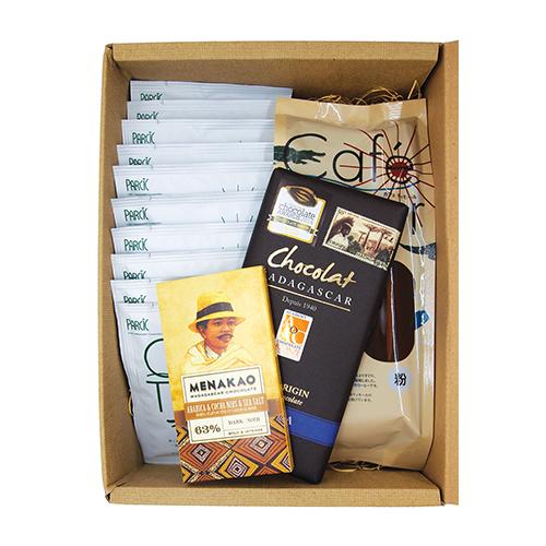 ギフト コーヒーと2種のチョコレートセット
