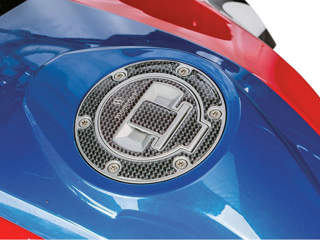 ワンダーリッヒ フューエルキャップカバー 3Dカーボンルック 水冷Rシリーズ用