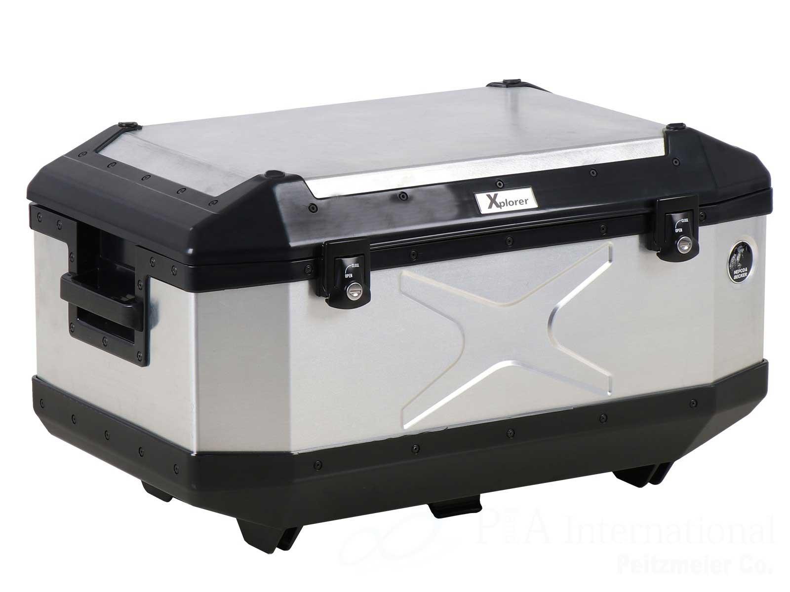 ヘプコ&ベッカー トップケース Xplorer / エクスプローラー TC60 シルバー