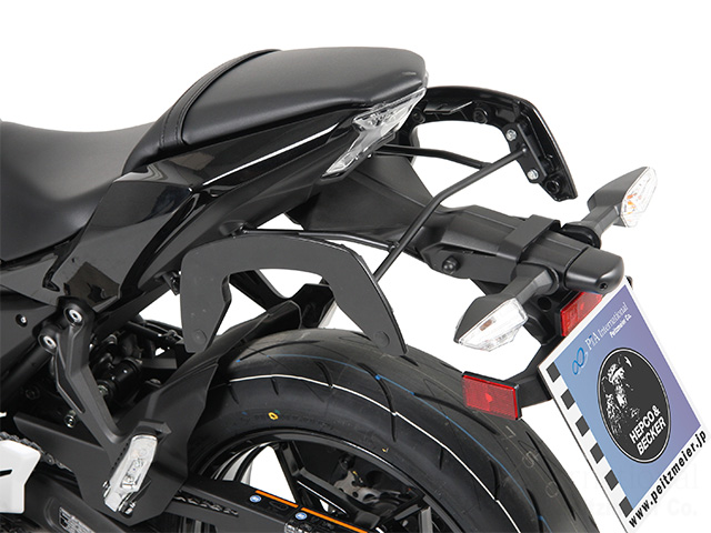 ヘプコ&ベッカー 正規品 サイドソフトケースホルダー(キャリア)「C-Bow」 Kawasaki Ninja650