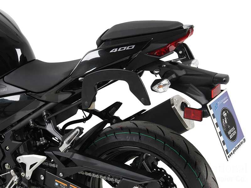 ヘプコ&ベッカー 正規品 サイドソフトケースホルダー(キャリア)「C-Bow」 Kawasaki Ninja400('18-)