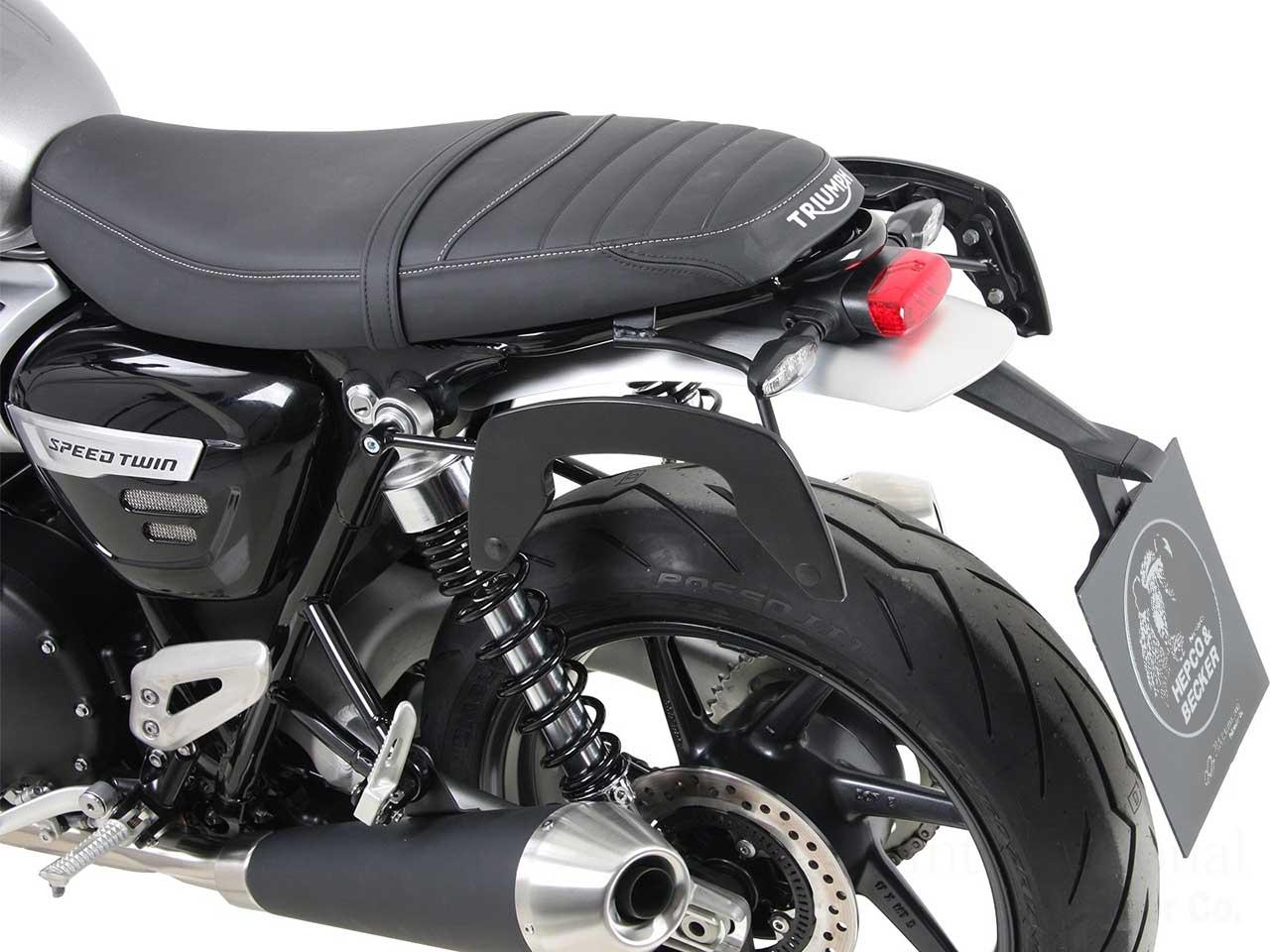 ヘプコ&ベッカー サイドソフトケースホルダー(キャリア)「C-Bow」 Triumph SpeedTwin