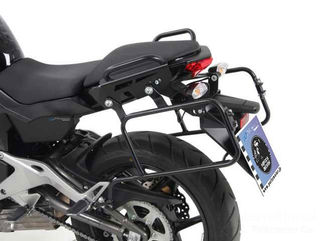 ヘプコ&ベッカー 正規品 サイドケースホルダー(キャリア) (Lock it system) ブラック Kawasaki ER-6n/ER-6F ('12-)