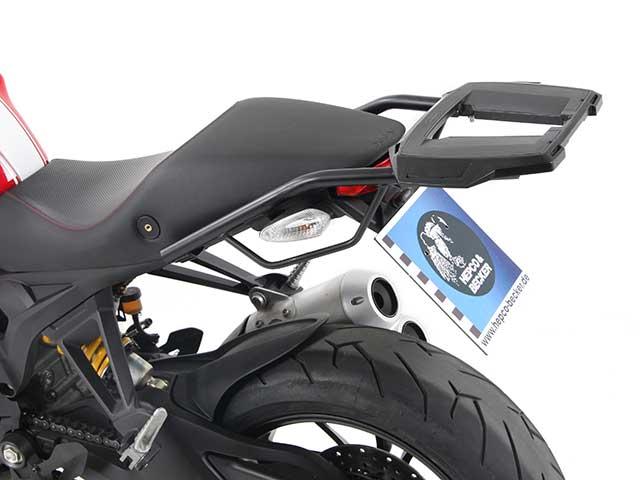 ヘプコ&ベッカー 正規品 トップケースホルダー(キャリア) (アルミラック)ブラック Ducati Monster 1100 evo