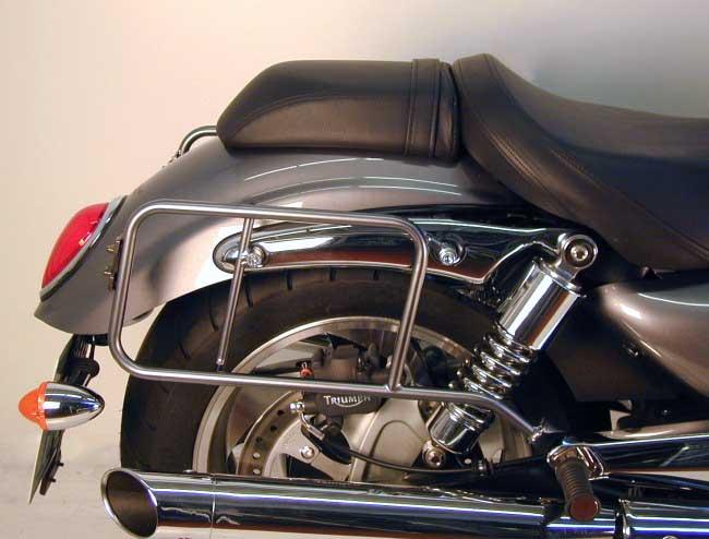 ヘプコ&ベッカー 正規品 サイドケースホルダー(キャリア) クローム Triumph RocketIII