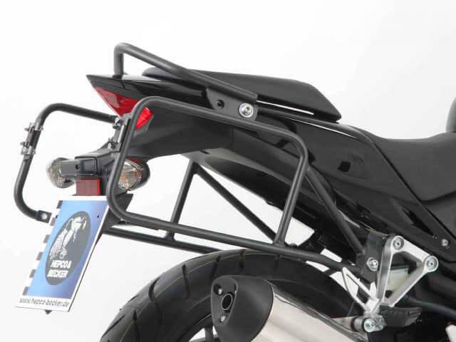 ヘプコ&ベッカー 正規品 サイドケースホルダー(キャリア) (Lock it system) ダークグレイ ホンダ CBR400R / CBR500R / CB400F / CB500F