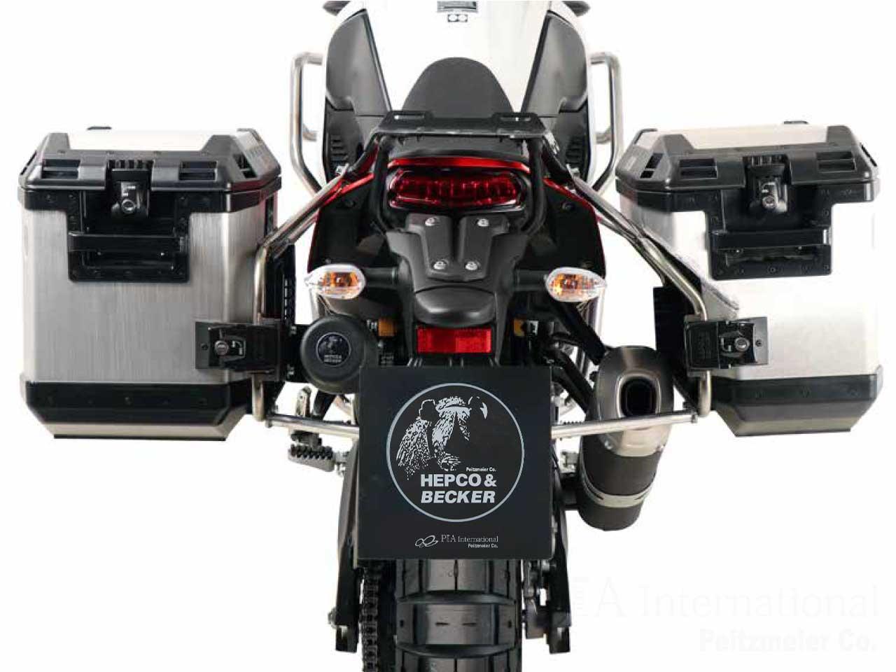 ヘプコ&ベッカー サイドケースホルダー + Xplorer(Cutout)セット YAMAHA テネレ700 / Tenere700