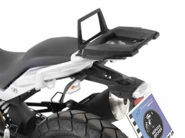 ヘプコ&ベッカー 正規品 トップケースホルダー(キャリア) (アルミラック) ブラック BMW G310GS